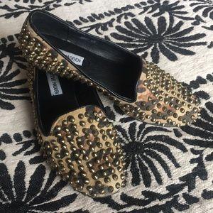 Steve Madden leopard loafers